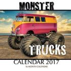 Monster Trucks Calendar 2017: 16 Month Calendar Cover Image