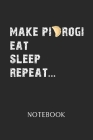 Notebook: Pierogi - Daily Diary - Polish Cuisine - 6 X 9 Inch A5 - Poland Food Doodle Book - 120 Graph Grid Ruled Pages - Gridde Cover Image