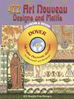 423 Art Nouveau Designs and Motifs [With CDROM] (Dover Electronic Clip Art) Cover Image