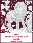 Libri da colorare per adulti - Pagine spesse - Animali - Lions Cover Image