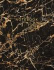 Notebook: Beautiful black marble gold bronze lettering ★ School supplies ★ Personal diary ★ Office notes 8.5 x Cover Image