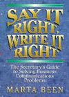 Say It Right, Write It Right Cover Image