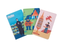 Harry Potter: Exploring Hogwarts Sewn Pocket Notebook Collection (Set of 3) Cover Image