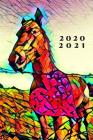 Colorful Romance Heart & Horse Stained Glass 25 Month Weekly Planer Dated Calendar 2 years plus December: To-Do Lists, Tasks, Notes or Appointments. P Cover Image
