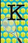 K: Tennis Monogram Initial Notebook for boys Letter K - 6
