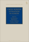 Cross-Border Litigation in Europe (Studies in Private International Law) Cover Image