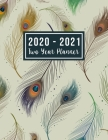 2020-2021 Two Year Planner: 2020-2021 happy planner - feather cover 24 Months Agenda Planner with Holiday from Jan 2020 - Dec 2021 Large size 8.5 Cover Image