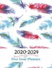 2020-2024 Five Year Planner: Monthly Calendar Schedule Organizer 60 Months For The Next Five Years With Holidays - Feather Cover Cover Image