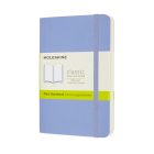Moleskine Classic  Notebook, Pocket, Plain, Hydrangea Blue, Soft Cover (3.5 x 5.5) Cover Image
