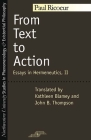 From Text to Action: Essays in Hermeneutics, II (Studies in Phenomenology and Existential Philosophy) Cover Image