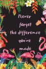 Never forget the difference you've made: Gift for teacher's birthday, farewell, Retirement, Thank you Gift or End Year teacher appreciation gifts Cover Image