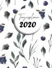 Tagesplaner 2020: Design-Kalender - Übersichtlicher Kalender in A4 - pro Tag eine Seite Cover Image
