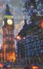 Notebook: London street buildings city cars Big Ben United Kingdom England Cover Image