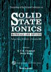 Solid State Ionics: Materials & Devices, Procs of the 7th Asian Conf Cover Image