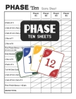 Phase Ten Sheets: Phase 10 Score Sheets for Card Games Cover Image