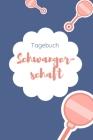 Tagebuch Schwangerschaft: 120 Seiten starkes liniertes Tagebuch ca. A5 Format für die Schwangerschaft im schicken Retro-Stil. Cover Image