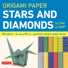 Origami Paper 96 Sheets - Stars and Diamonds 6 Inch (15 CM): Tuttle Origami Paper: High-Quality Origami Sheets Printed with 12 Different Patterns: Ins Cover Image