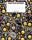 Graph Paper Notebook: Emoji; 5 squares per inch; 100 sheets/200 pages; 8