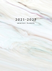 2021-2025 Monthly Planner Hardcover: Large Five Year Planner with Marble Cover Cover Image