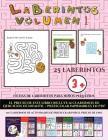 Fichas de laberintos para niños pequeños (Laberintos - Volumen 1): (25 fichas imprimibles con laberintos a todo color para niños de preescolar/infanti Cover Image