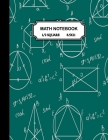 Math notebook: 1/2 inch Square Graph paper pages and White Paper-kids, girls, boys, teens -100 pages large(8.5x11) Cover Image