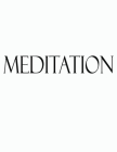 Meditation: Black and White Decorative Book to Stack Together on Coffee Tables, Bookshelves and Interior Design - Add Bookish Char Cover Image