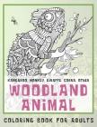 Woodland Animal - Coloring Book for adults - Kangaroo, Monkey, Giraffe, Cobra, other Cover Image