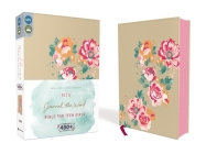 NIV, Journal the Word Bible for Teen Girls, Imitation Leather, Gold/Floral: Includes Hundreds of Journaling Prompts! Cover Image