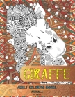 Adult Coloring Books Big Print - Animals - Giraffe Cover Image