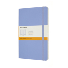 Moleskine Classic Notebook, Large, Ruled, Hydrangea Blue, Soft Cover (5 X 8.25) Cover Image