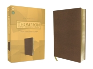 Kjv, Thompson Chain-Reference Bible, Leathersoft, Brown, Red Letter Cover Image
