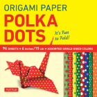 Origami Paper 96 Sheets - Polka Dots 6 Inch (15 CM): Tuttle Origami Paper: High-Quality Origami Sheets Printed with 8 Different Patterns: Instructions Cover Image