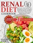 Renal Diet Cookbook: Learn 200+ Low Sodium, Low Phosphorus & Easy to Prepare Renal Diet Recipes with Meal Plan Guide to Help Control Kidney Cover Image