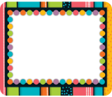 Stylin' Stripes Name Tags Cover Image