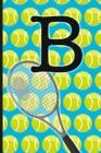 B: Tennis Monogram Initial Notebook for boys Letter B - 6
