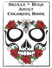 Skulls and Bugs Adult Coloring Book Cover Image