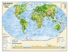 National Geographic: Kids Physical World Education: Grades 4-12 Wall Map - Laminated (51 X 40 Inches) (Reference - Education) Cover Image