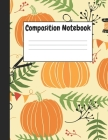 Composition Notebook: Halloween Pumpkins Themes Style, 8.5