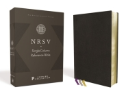 Nrsv, Single-Column Reference Bible, Premium Leather, Goatskin, Black, Premier Collection, Comfort Print Cover Image