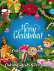 Merry Christmas Color By Number Coloring Books For Adults: Creative Haven Country Christmas Color By Numbers Book for Adults Featuring Beautiful Winte Cover Image
