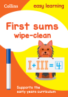 First Sums: Wipe-Clean Activity Book (Collins Easy Learning Preschool) Cover Image