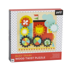 Busy Trains Wooden Twist Puzzle Cover Image