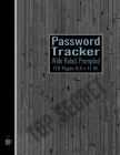 Password Tracker: Internet ID Organizer For All Your Passwords Premium Journal and Logbook to Record Site-Username-Password in the Wide Cover Image