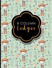 8 Column Ledger: Accountant Workbook, Accounting Record Book, Ledger Paper Book, Cute Cowboys Cover, 8.5