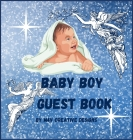 Baby boy guest book: Adorable baby boy guest book for baby shower or baptism. Cover Image