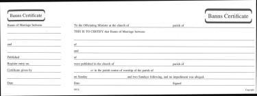 Banns of Marriage Certificate Book Mb6 Cover Image