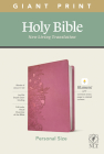 NLT Personal Size Giant Print Bible, Filament Enabled Edition (Red Letter, Leatherlike, Peony Pink) Cover Image