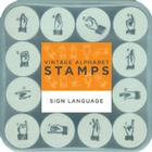 Vintage Alphabet Stamps: Sign Language Cover Image