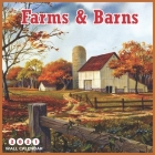 Farms & Barns 2021 Wall Calendar: 8.5 x 8.5 Inch, Country Side Farms Cover Image