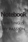 Writing is my passion notebook: black and white Waterfall notebook for nature lovers Cover Image